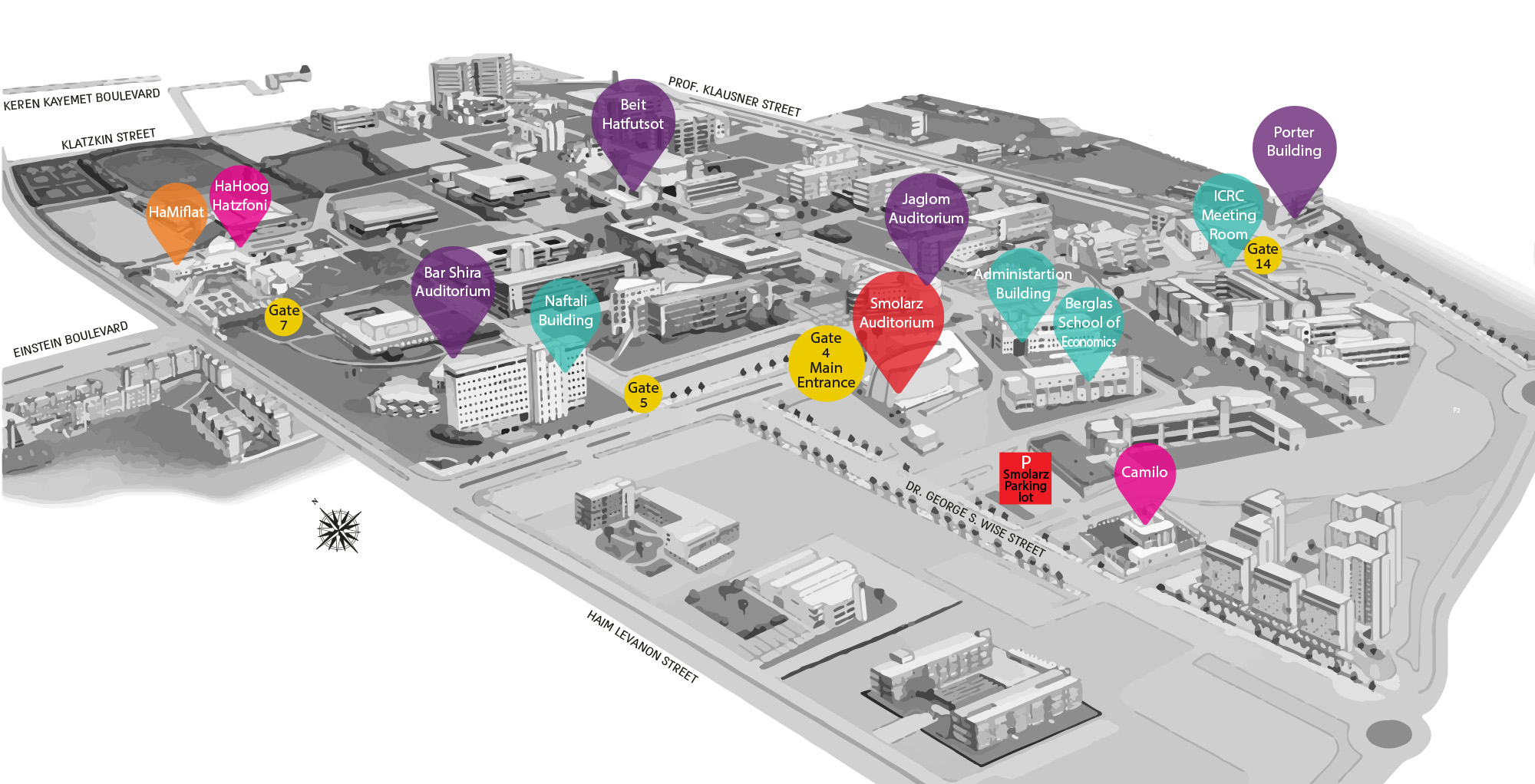 An image illustrating the campus map