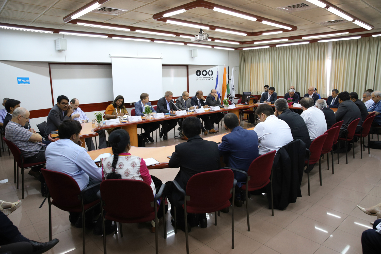 Showing image of India-Israel Roundtable